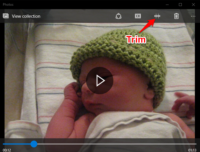Trim Videos Using Window 10 Video Editor