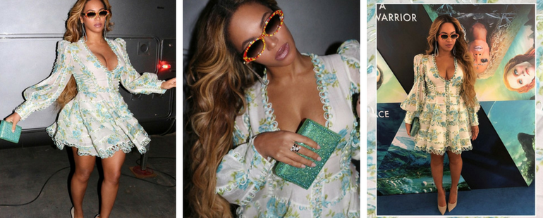 Beyonce Rocks Instagram With Her Cleavage-Baring Flowery Dress