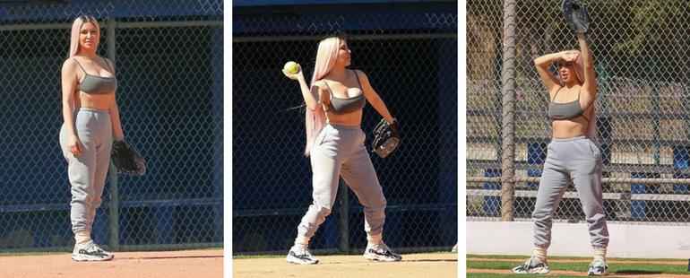 Kim Kardashian Wears Daring Sports Bra
