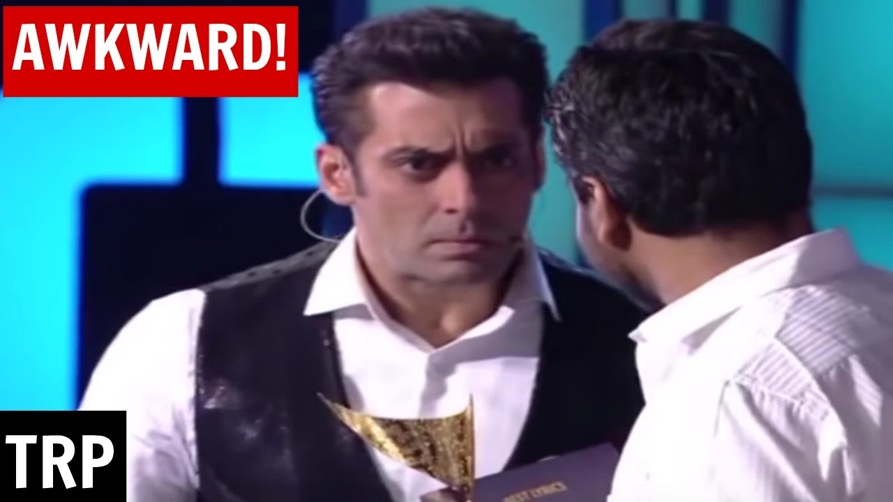Mithoon and Salman Khan share an awkward moment on stage