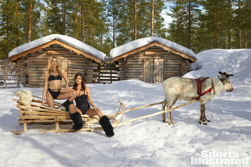Swimsuit 2017: Finland Hailey Clauson and Bo Krsmanovic Lapland Finland 04/15/2016 SWIM-33 TK3 Credit: Walter Chin
