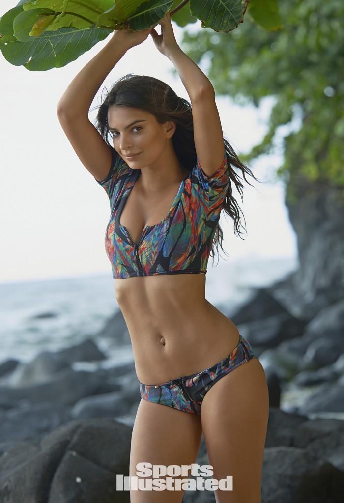 Swimsuit 2015: Hawaii Emily Ratajkowski NA/NA, Kauai, Hawaii 4/26/2014 X158020 TK2 Credit: Yu Tsai Swimsuit by: Amore & Sorvete
