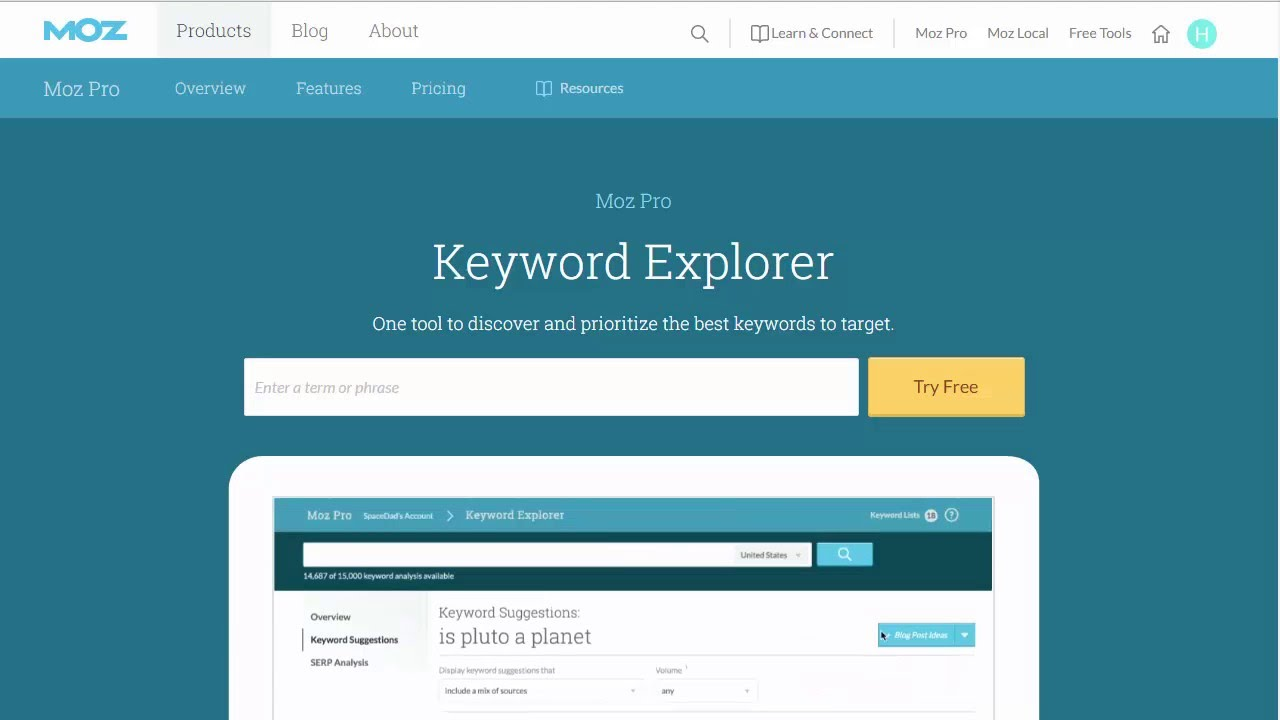 Moz Pro - Cutting Edge SEO Tools