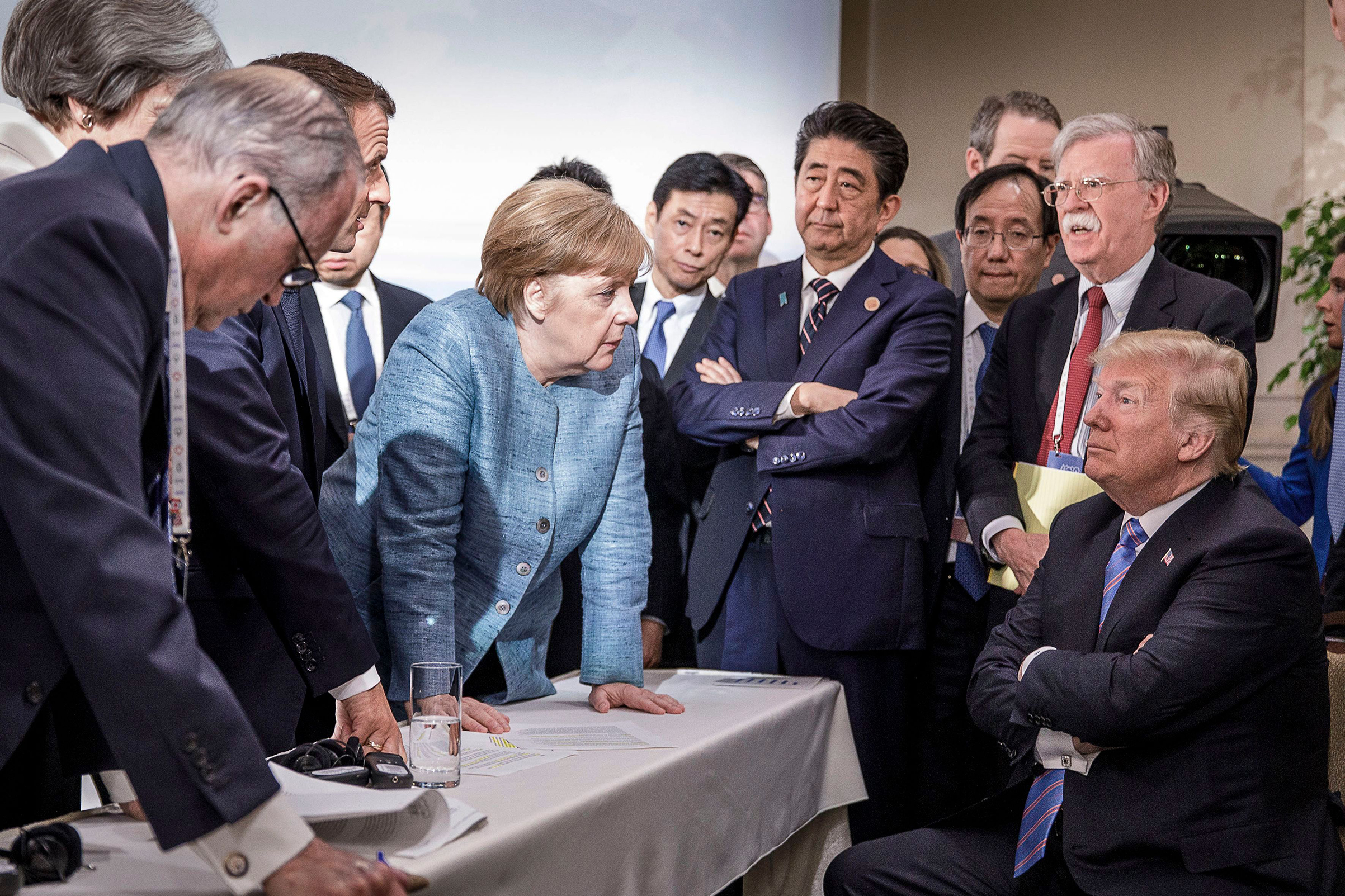 Angela Merkel-Donald Trump Photo At G7 Summit