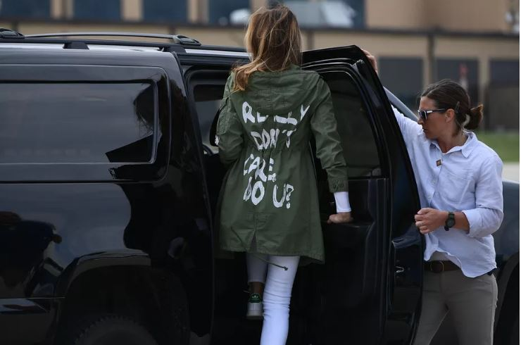 "Why Did Media Create So Much Uproar Over Melania Trump's Jacket?  ""I really don't care. Do U?"""