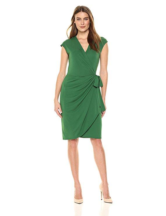 Ro Women's Classic Cap-Sleeve Wrap Dress