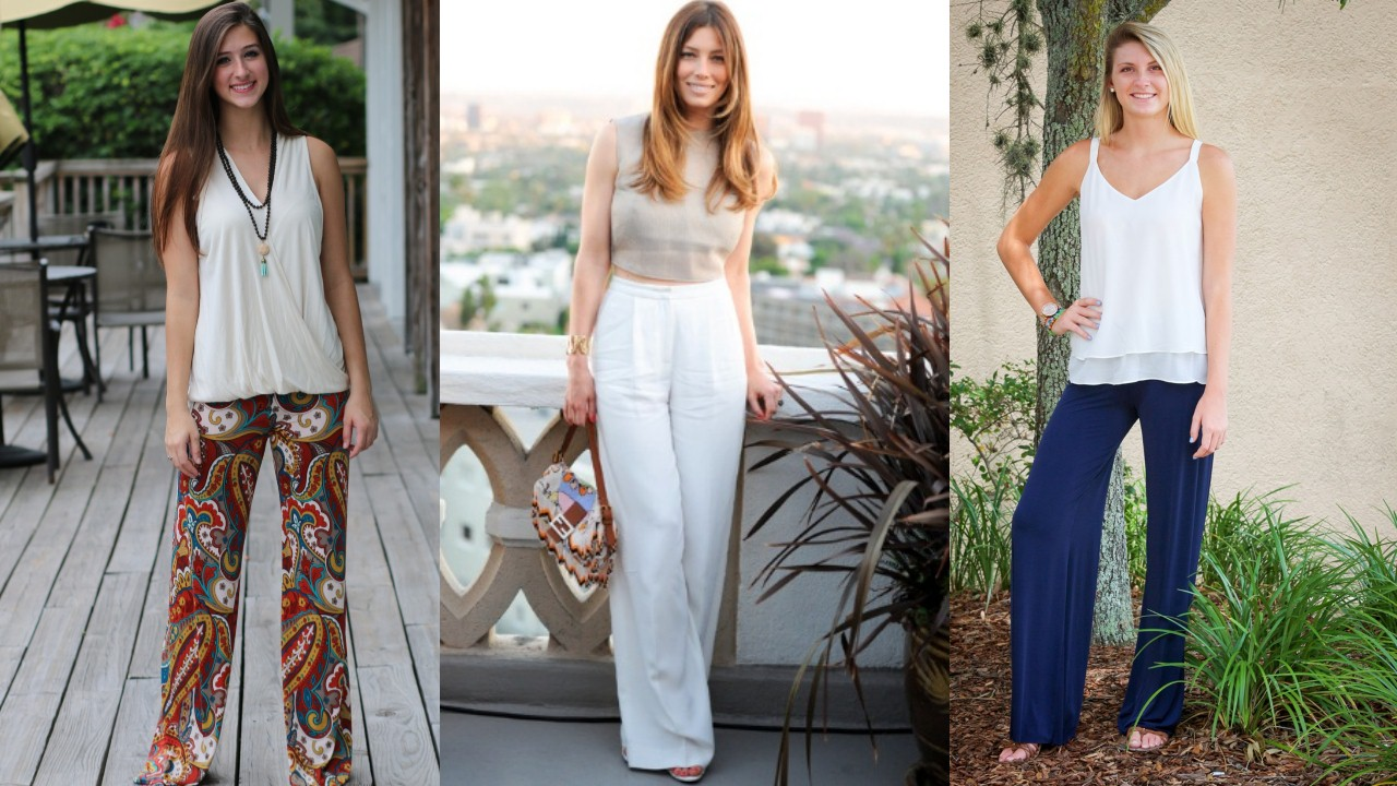 Simple Tank top with Palazzo Pants