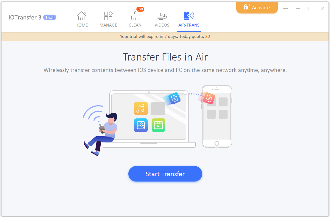 • AirTrans- Transfer file over Wi-Fi _IOTransfer 3