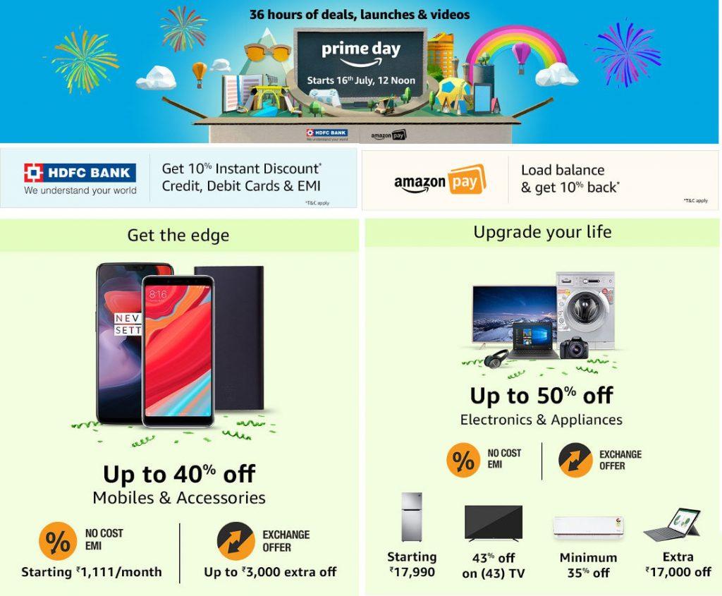 Amazon Prime Day 2018, India