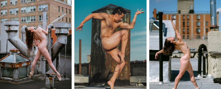 Nude Dancers On New York City Rooftops