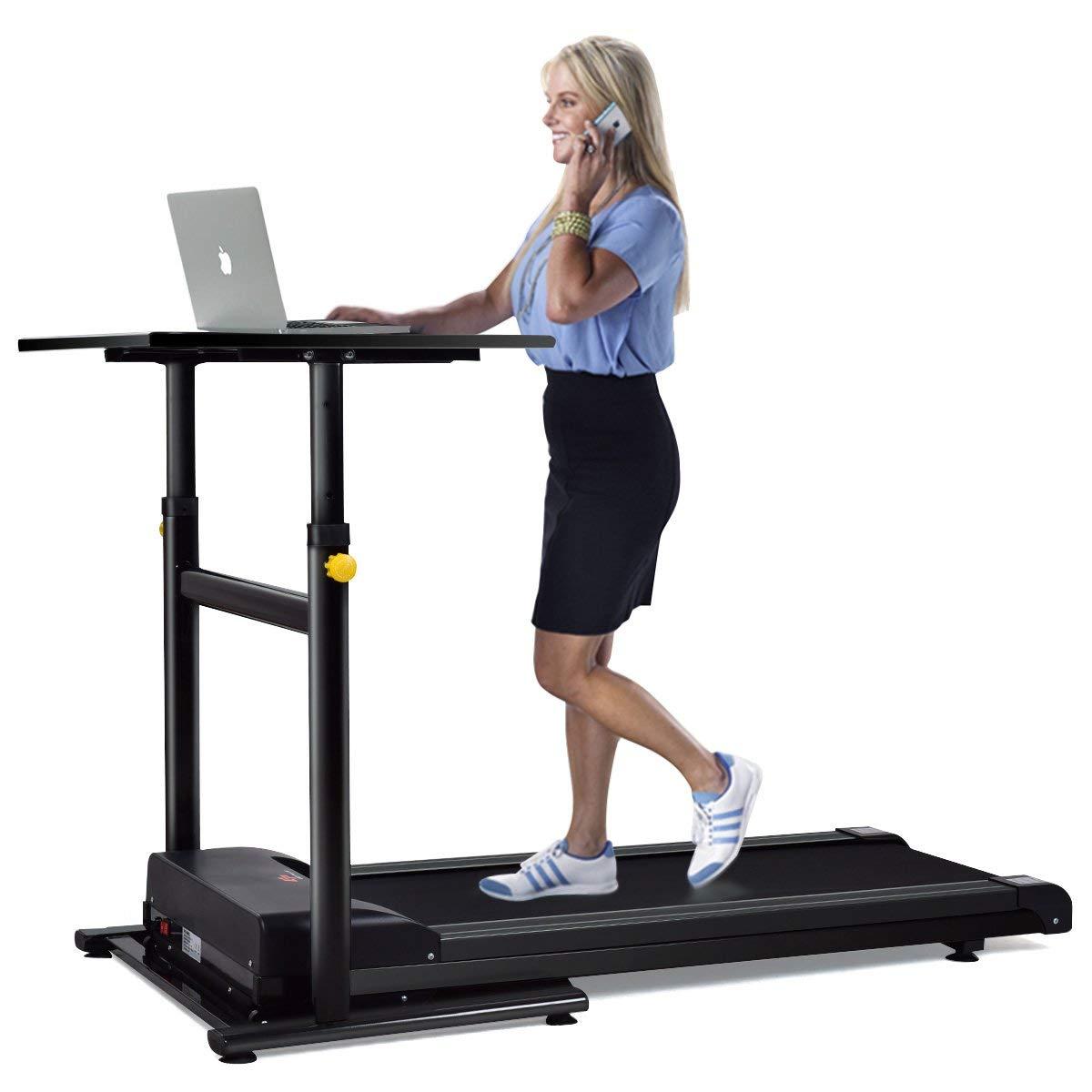 Goplus Treadmill Desk Standing Walking Treadmill Electric Machine