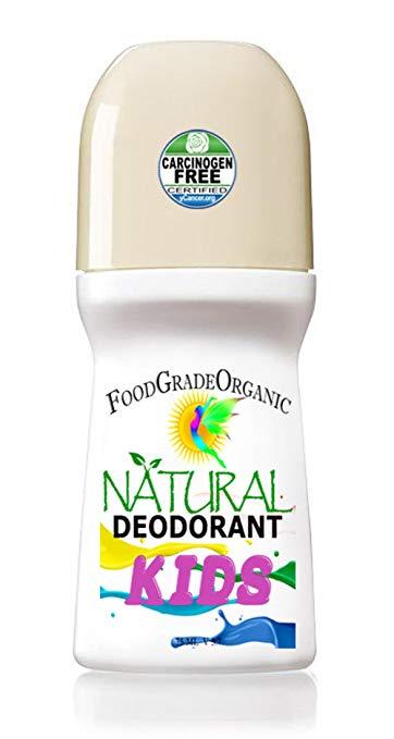 Natural Aluminum-free Deodorant for KIDS Organic Carcinogen