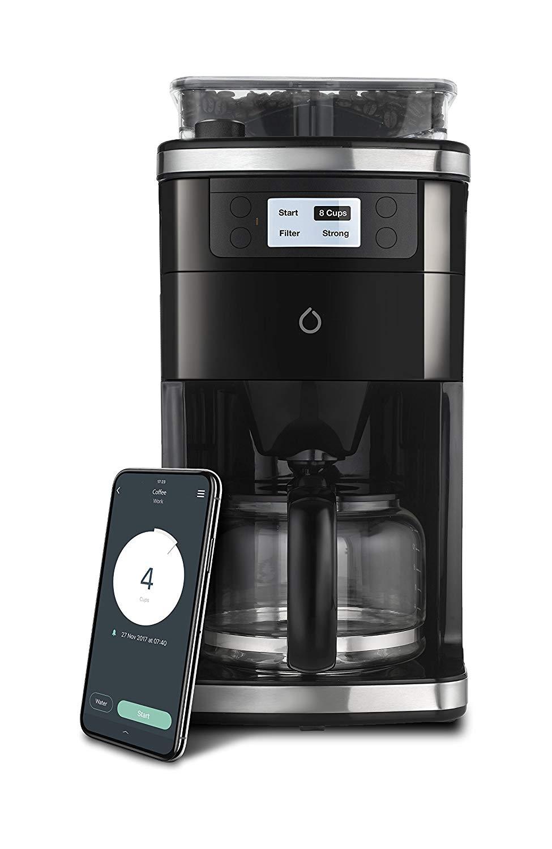 Smarter SMCOF01-US 12 Cup Wifi Coffee Maker, Black/Silver