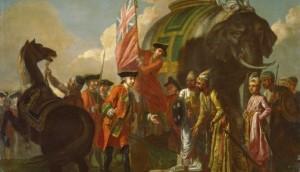 Robert Clive and Mir Jafar
