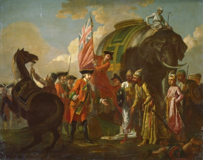 Robert Clive and Mir Jafar