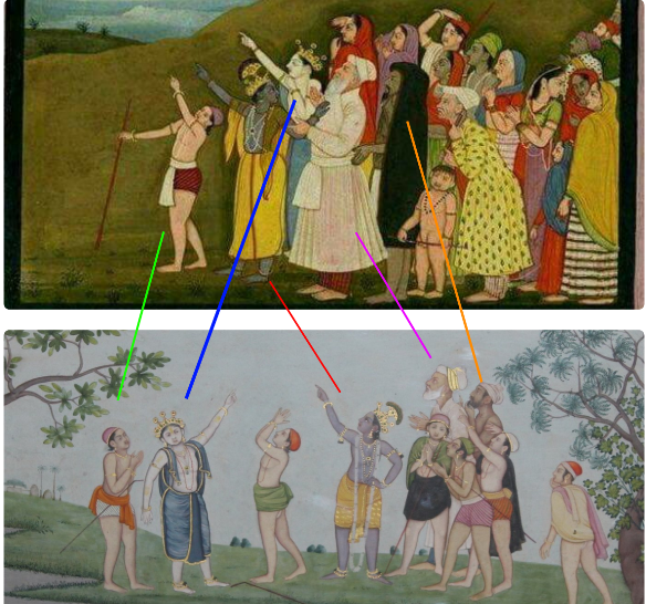 Krishna pointing at Eid moon_1