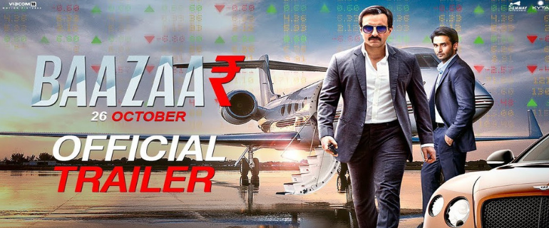 "New Bollywood Movie Trailer Of ""Baazaar"" Brings The Fight For Money In The Share Market"