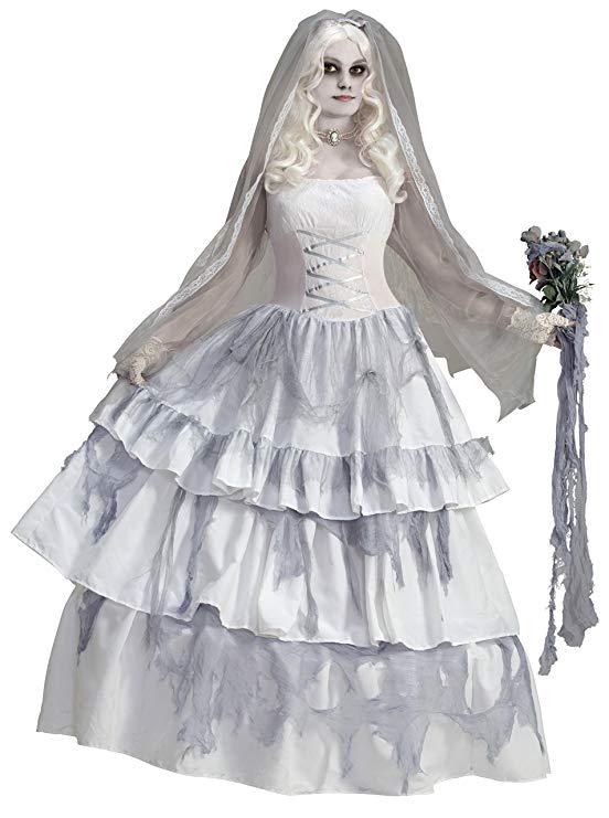 Forum Novelties Women's Deluxe Victorian Ghost Bride Costume