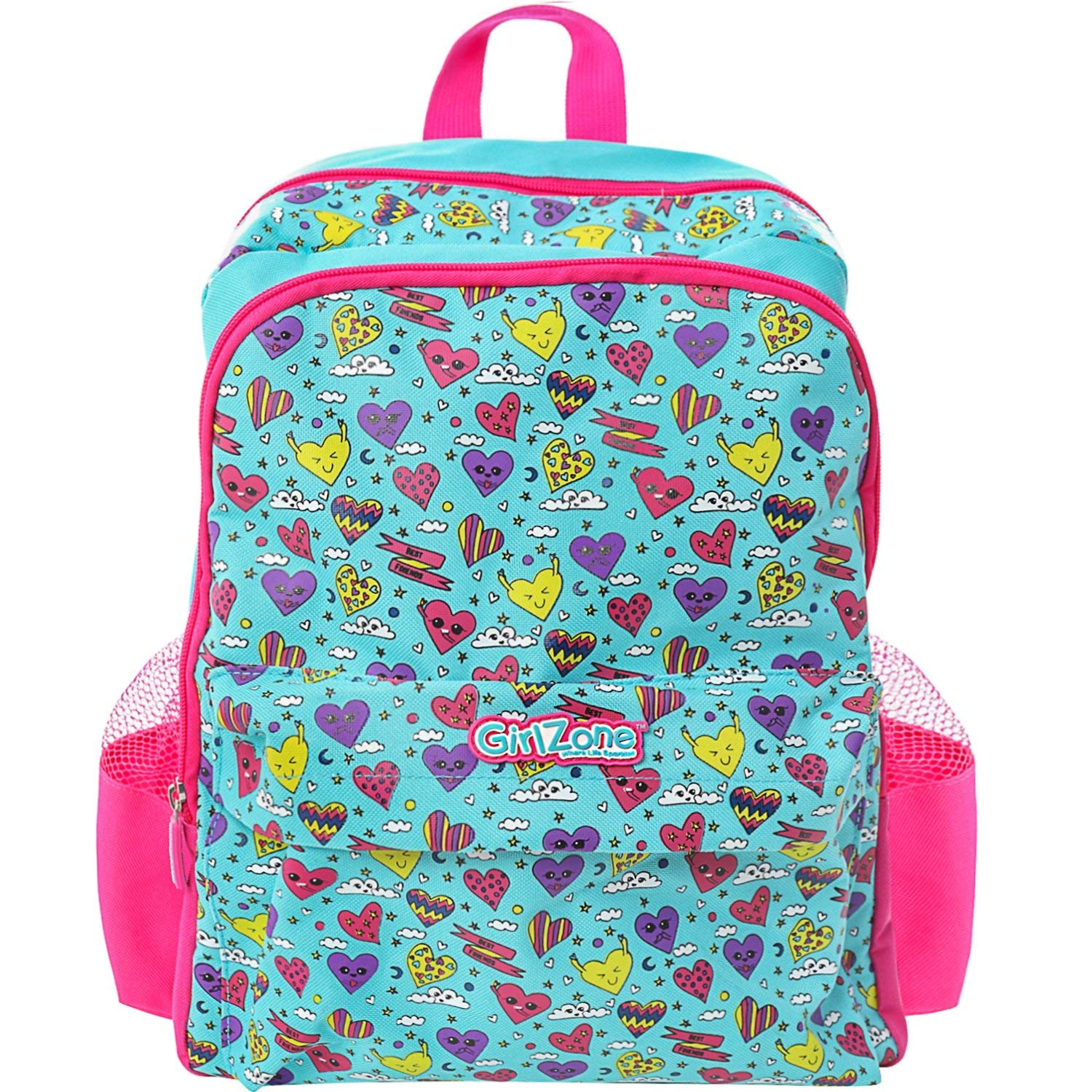 GirlZone BACKPACK FOR GIRLS: Fun & Funky Rucksack School Bag for kids. Great Birthday Present/Gift Idea For Girls.