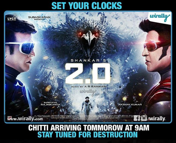 All The Eye Catching Posters Before Rajinikanth And Akshay Kumar's Starrer 2.0 Teaser Release!