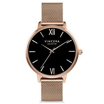 Vincero Luxury Women's Eros Wrist Watch with a Mesh Watch Band — 38mm Analog Watch