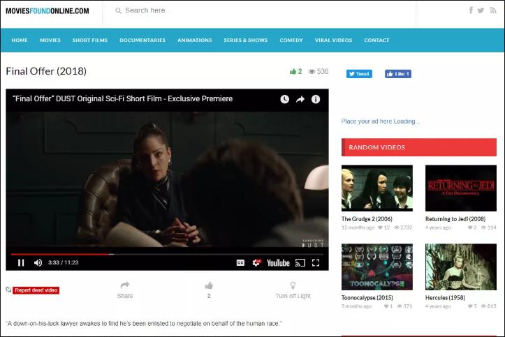 Movies Found Online.com