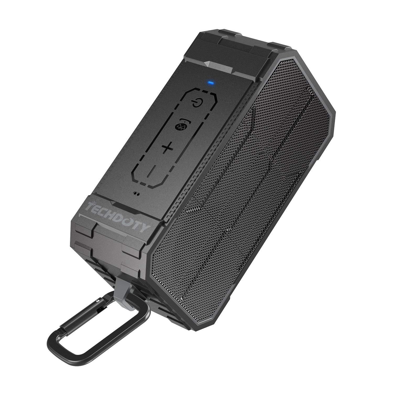 Bluetooth Speaker, TECHDOTY Portable Wireless Bluetooth 4.2 Waterproof Speakers with Dual 5W HD Sound