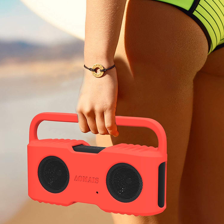 Bluetooth Speakers Sling Cover for AOMAIS Sport II and Sport II+ Waterproof Portable Speakers (Orange)