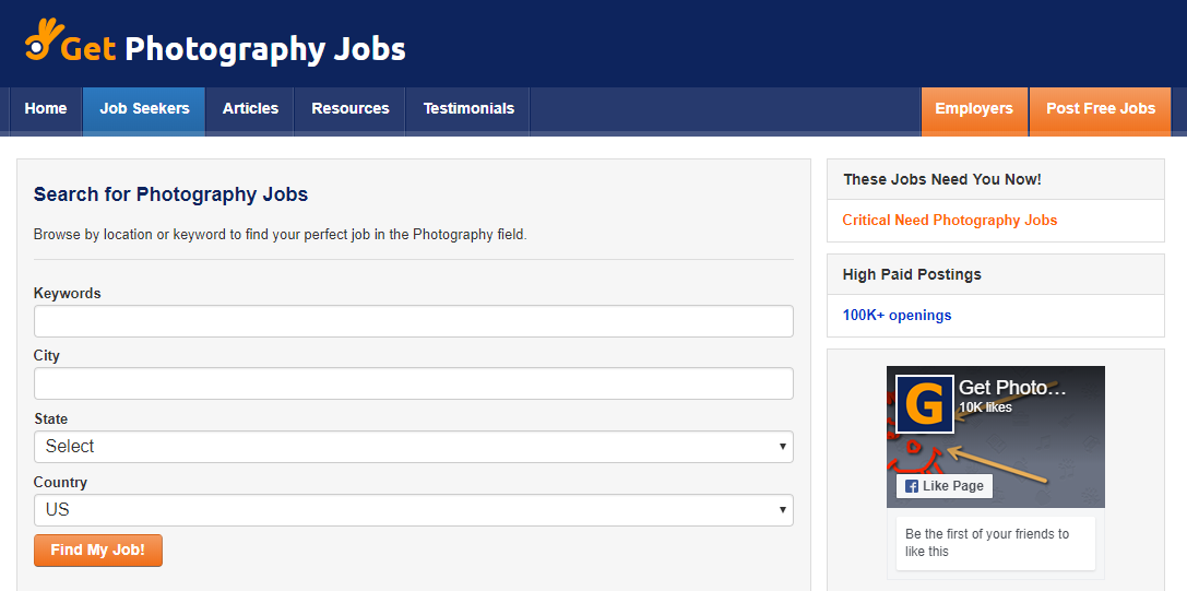 Get Photography Jobs