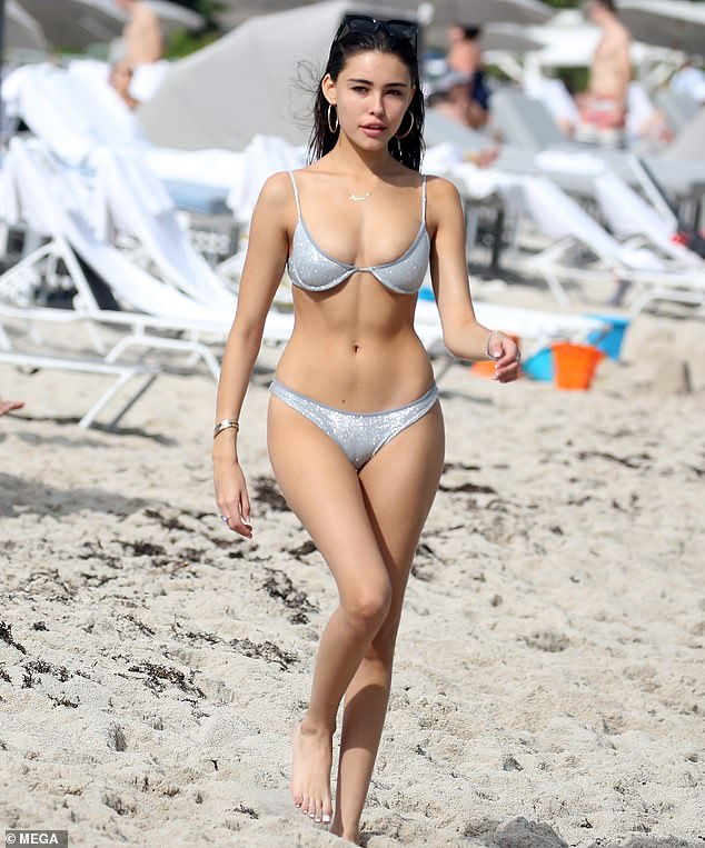 Madison Beer Wearing A Thong Bikini In Miami