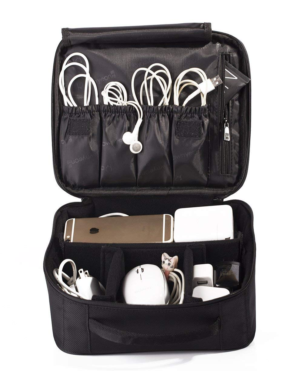ROWNYEON Portable Travel Makeup Bag Makeup Case Mini Makeup Train Case 9.