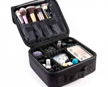 Makeup Train Case,FORTECH Makeup Case Organizer Portable Artist Storage Bag for Cosmetics