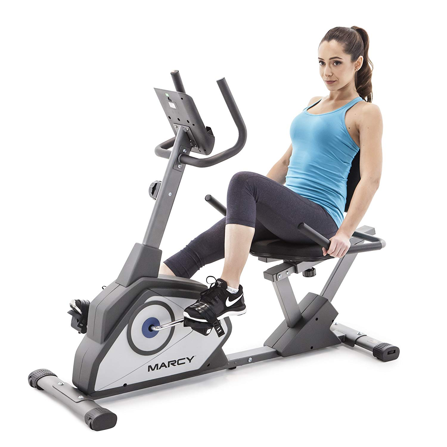 Marcy Magnetic Recumbent Exercise Bike with 8 Resistance Levels NS-40502R