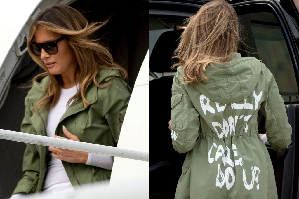 "Melania Trump Unveiled The Mystery Of Her  Jacket "" I Don't Care"""