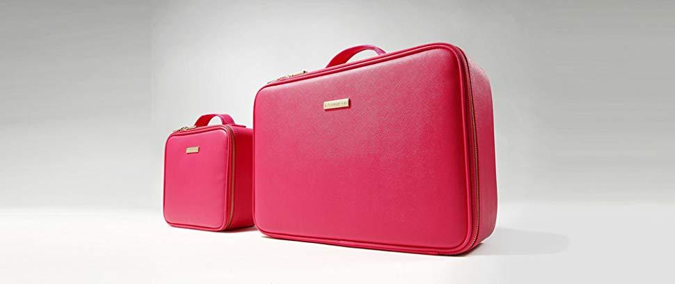 ROWNYEON PU Leather Makeup Case Mini Makeup Bag