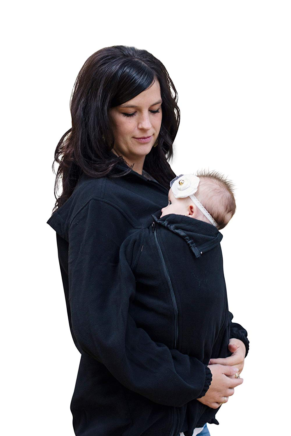 Suse's Kinder Babywearing Fleece Jacket for Use Over Baby Carrie
