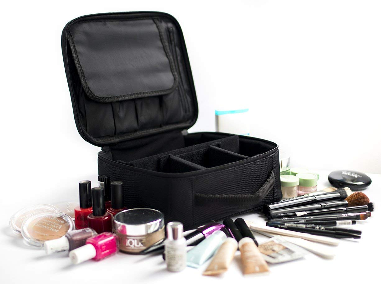 Travel Makeup Bag - Portable Waterproof Toiletry Make Up Bag