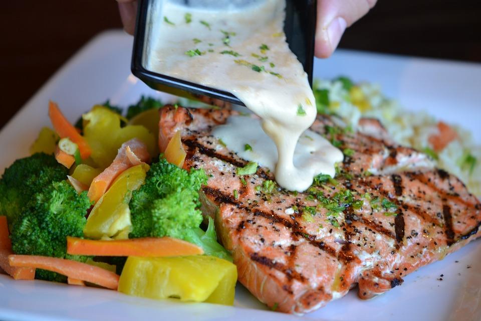 Microwaved Salmon