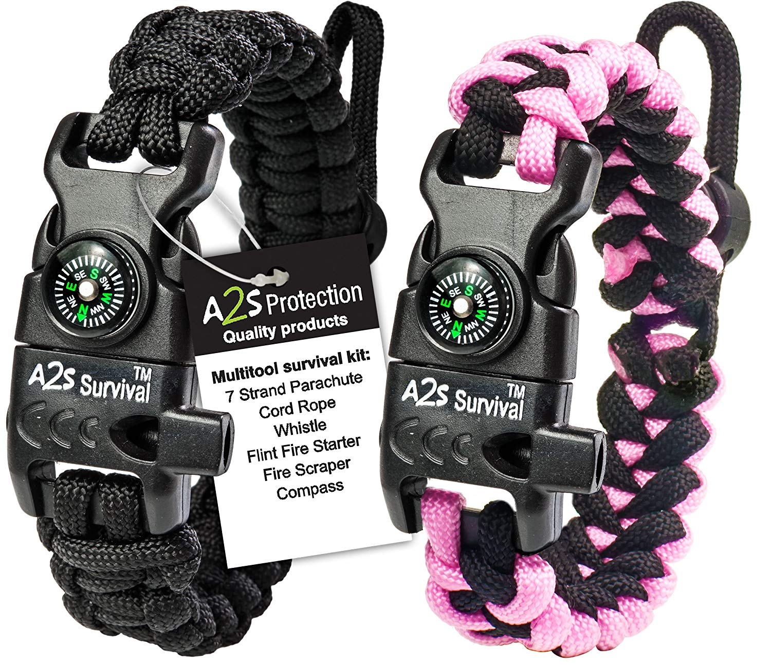 A2S Protection Paracord Bracelet K2-Peak