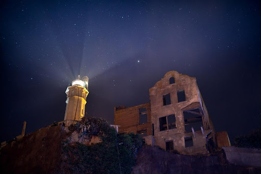 Alcatraz lighthouse was the first on the Pacific Coast