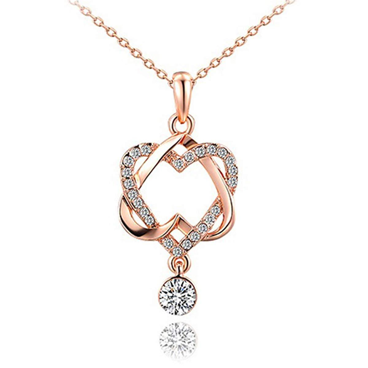 Delia Joyce Double Heart Necklace for Her