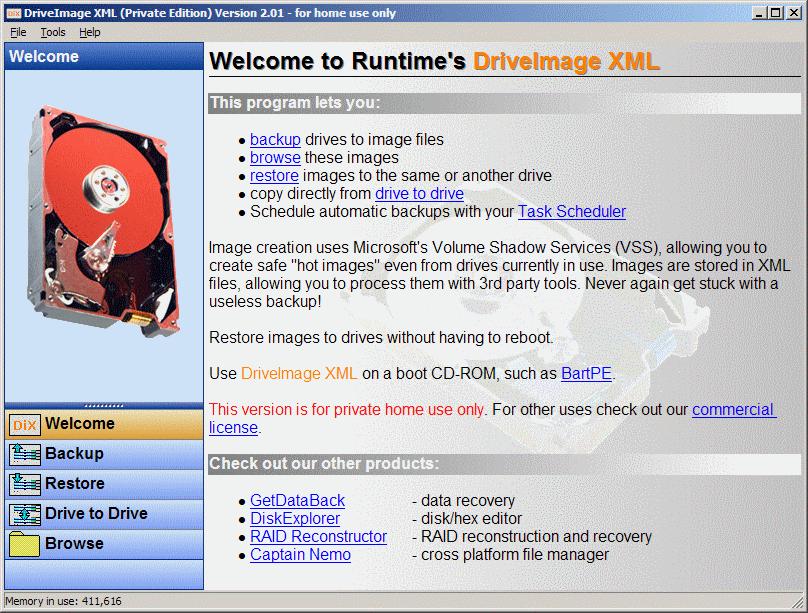 DriveImage XML v2.60