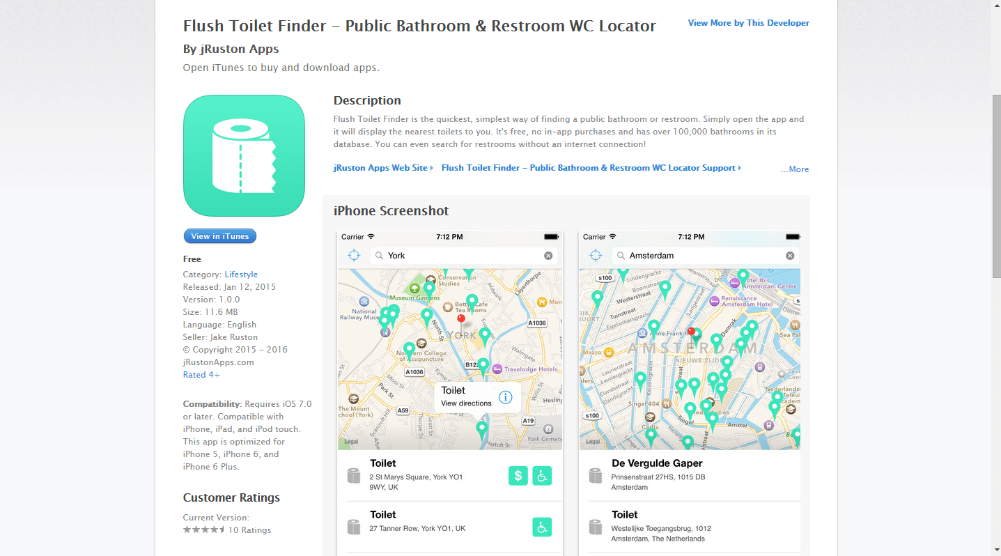 Flush - Toilet Finder & Map