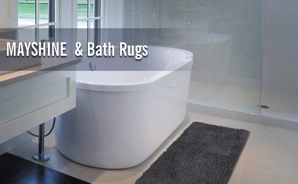 MAYSHINE Non-Slip Bathroom Rugs and Door Mat Mud Dirt Trapper