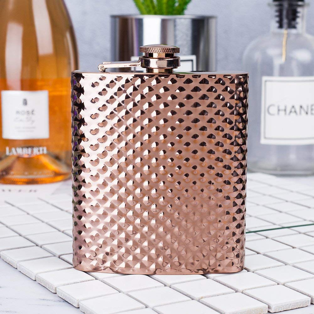 Mealivos 6oz Stainless Steel Hip Flask