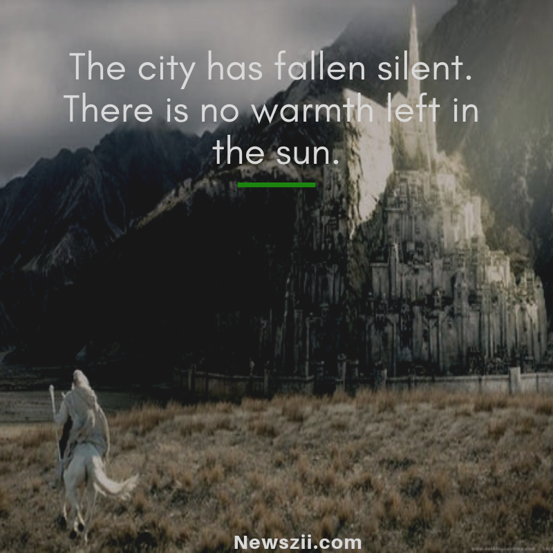 The city has fallen silent.