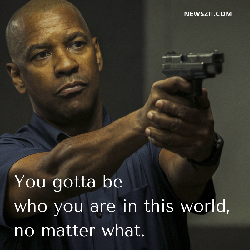 You gotta be who you are in this world, no matter what. done