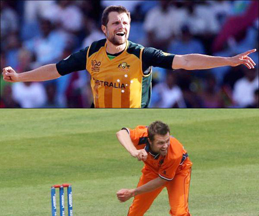 Dirk Nannes has played both for Australia and Netherlands, in International Cricket.