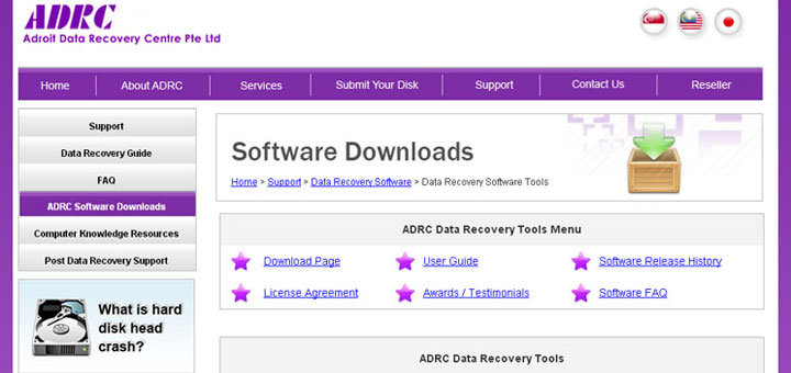 ADRC Data Recovery Tools