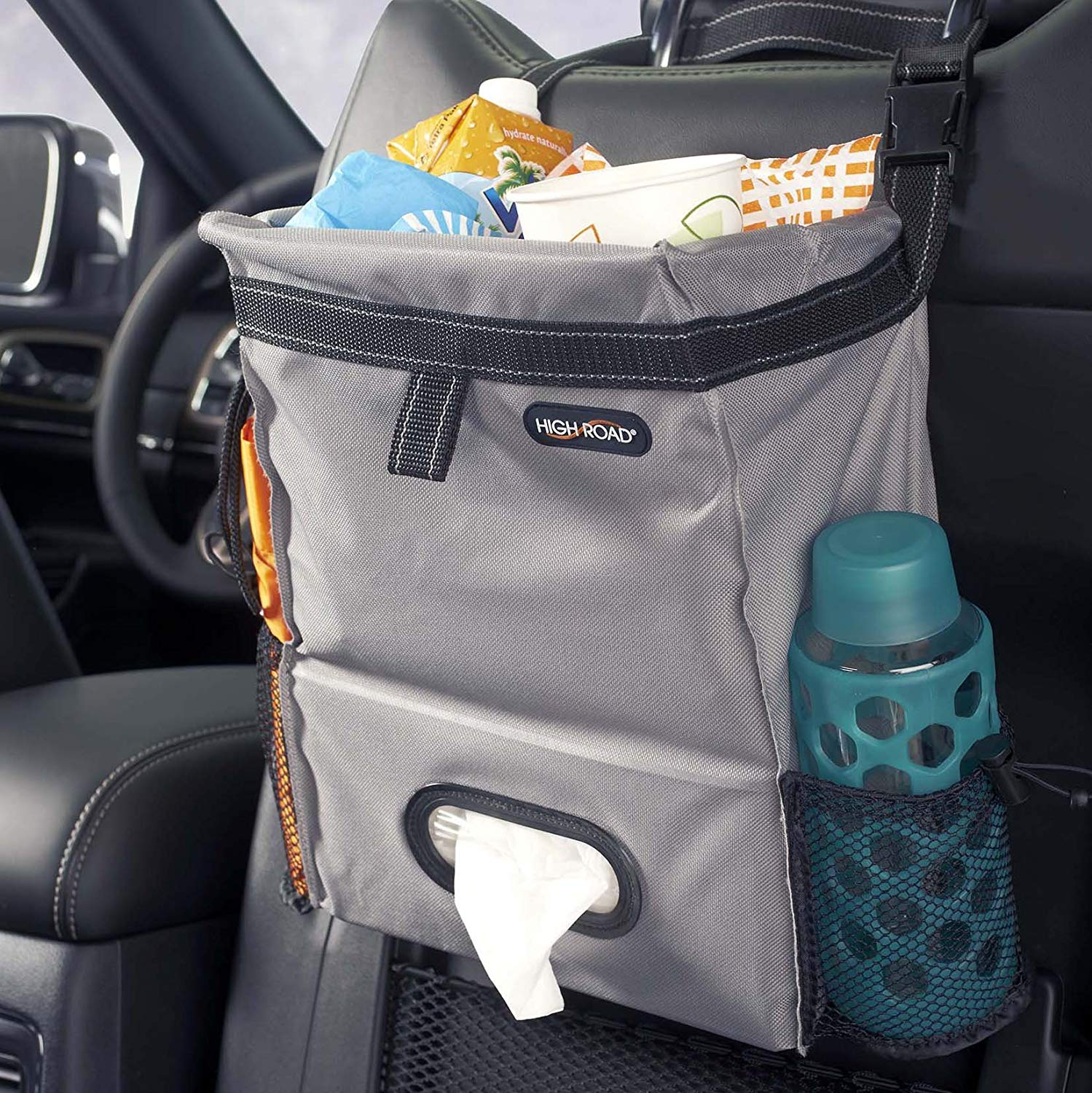 High Road Puff'nStuff Car Trash Bag Organizer and Tissue Holder